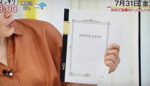 日本テレビ「スッキリ」加藤浩次さんに錯視トリックノートで遊んでいただきました。(2020/07/31)